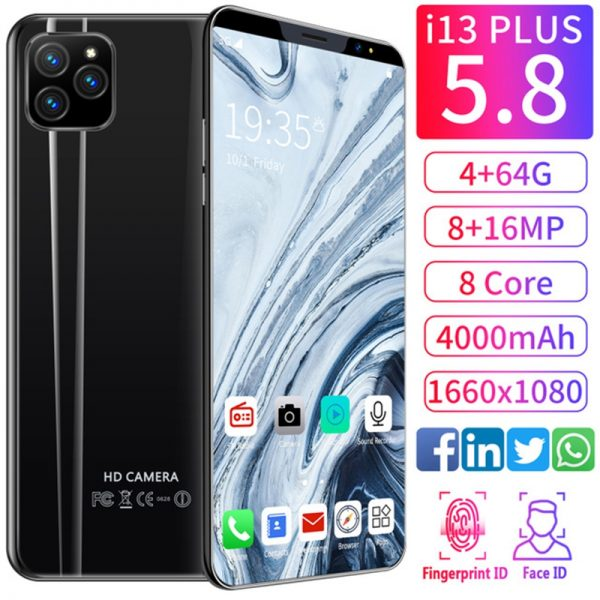 The best Android phone to buy for 2020 i13 plus 5.8inch | face recognition unlocked | 4+64GB | 16MP Camera | 2020