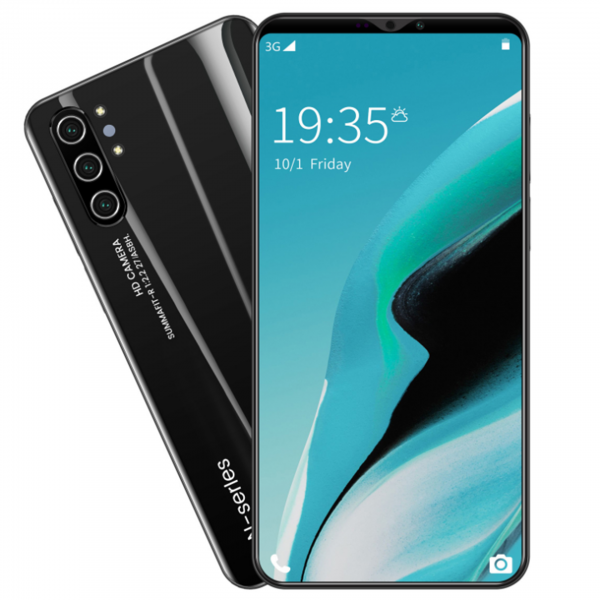 2020 New Android phone Note10 | 5.8inch | Zero-light face recognition | 16million HD rear cameras | 64GB of Storage | Dual SIM | Black / Green / Violet