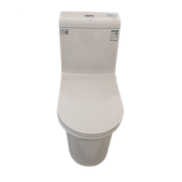One-piece double flush sanitary ware for hotel bathroom