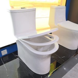 Made in China S-shaped bathroom ceramic toilet with water tank