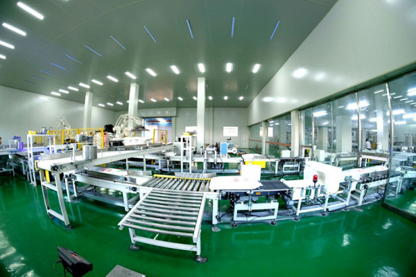 Fully Automatic Robot Production Line of Packing and Palletizing