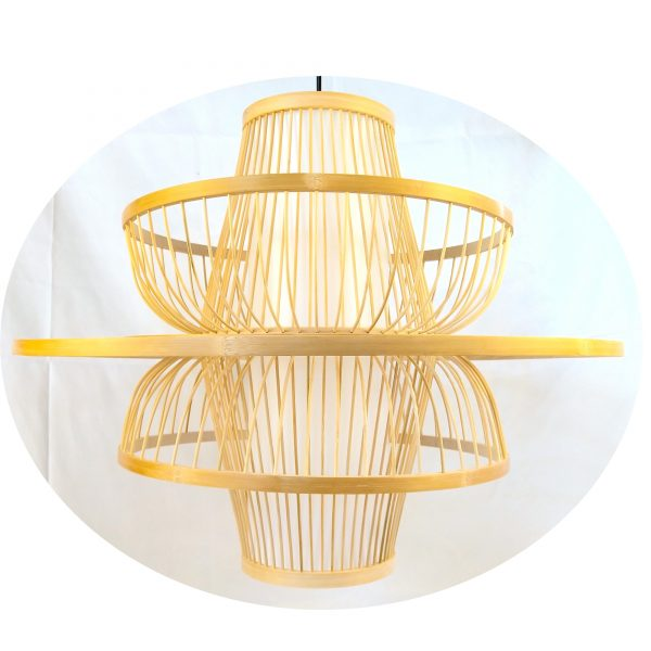 Bamboo Lampshade, Eco-friendly material,easily assembled