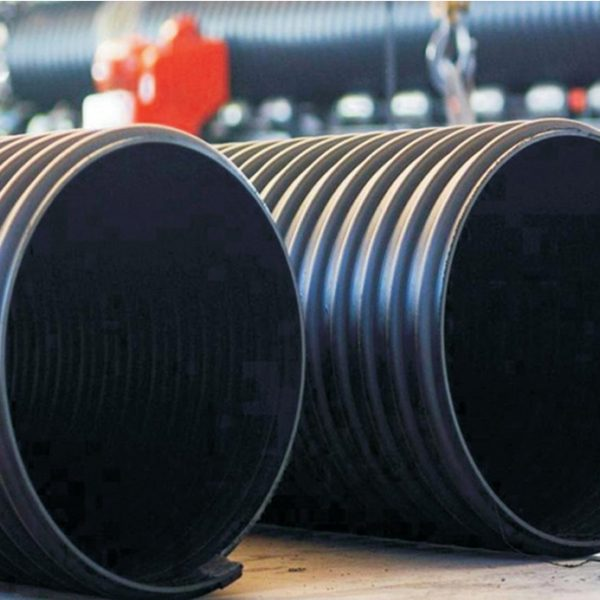 Reinforced spiral bellows of HDPE steel strip, chemical resistance, anti impact