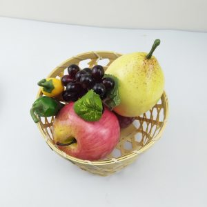 Handmade woven basket with large frame design can hold fruits