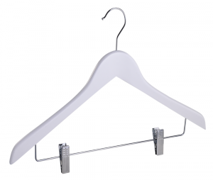 wooden hanger with clips DW002