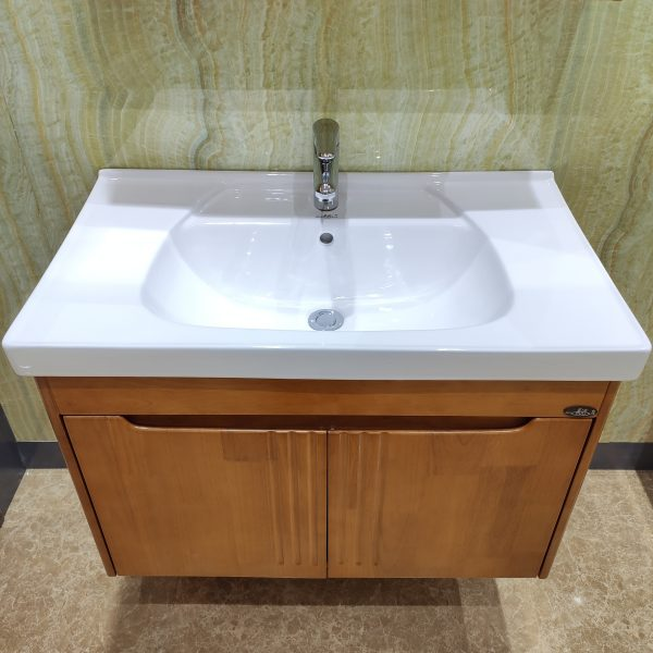 Solid wood cabinet basin LM268003
